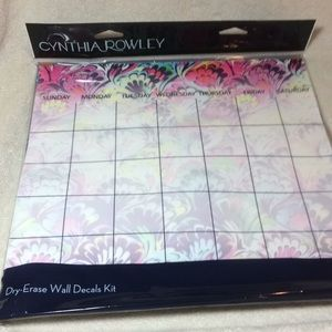 Cynthia Rowley dry-erase wall decals kit planner